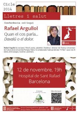 conferència Rafael Argullol del cicle lletres i salut