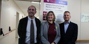 La consellera Alba Vergés inaugura la Unitat de Fragilitat conjunta Sant Rafael i Vall d'Hebron