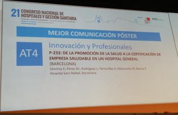 Premi pòster XXI Congrés Nacional d'Hospitals i Gestió Sanitària