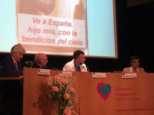 Presentació de la Festivitat de San Rafael per el Dr. Jesús Ezquerra, Sor Margarita Vicente i el Monsenyor José Luís Redrado