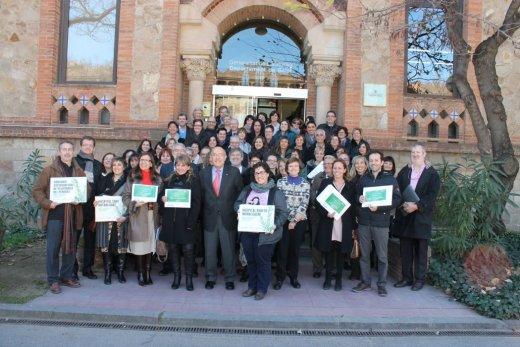 acte de lliurament de l´acreditació d'Argent de la Xarxa Catalana d'Hospitals sense Fum